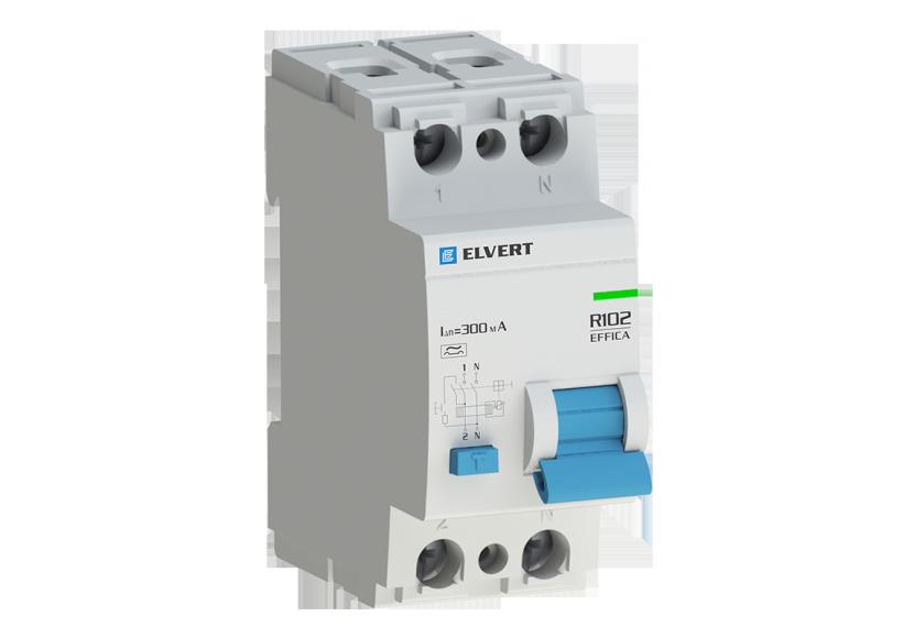 Устройство защитного отключения R10 2P 30мА тип AC ELVERT