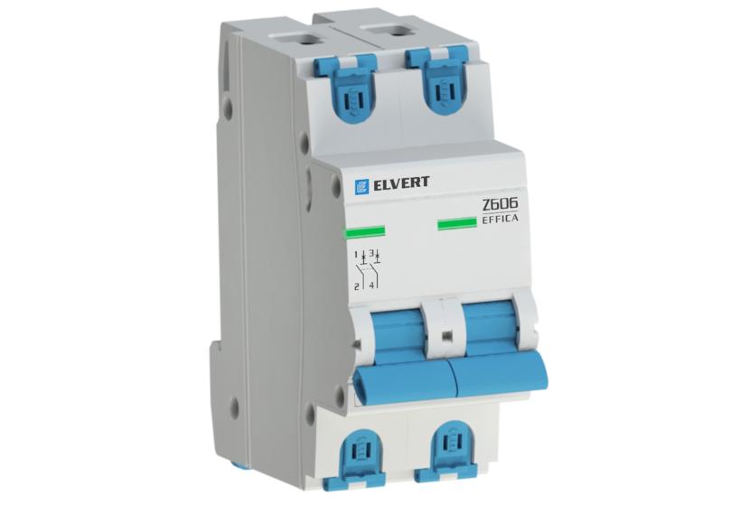 Автоматический выключатель Z406 2Р C2 4,5кА ELVERT