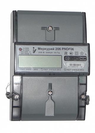 Счетчик электроэнергии однофазный многотарифный Меркурий 206 PNOF06