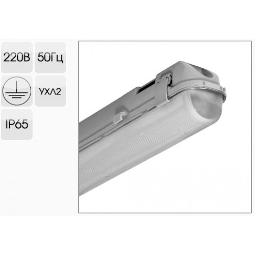 Светильник светодиодный ЛСП PSK-Prom 36 Вт 4600 Лм IP65 (аналог ЛСП,РЕ 2х36)